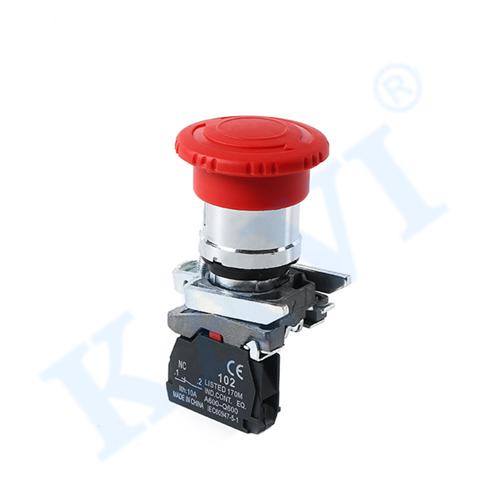 Mushroom head self-locking button