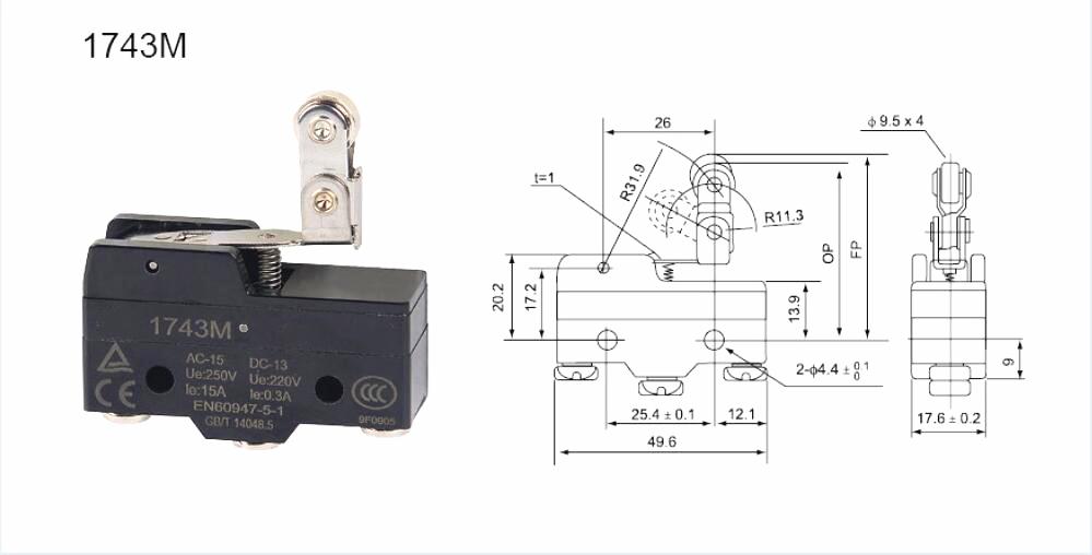 KM-1743M Micro switch