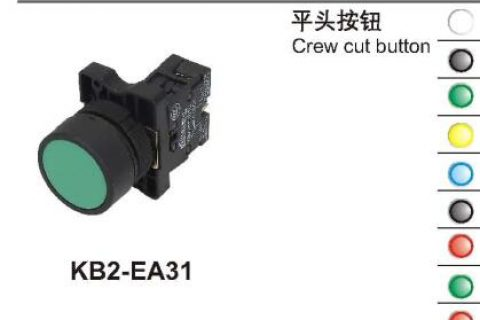 KB2-EA31 Crew cut button