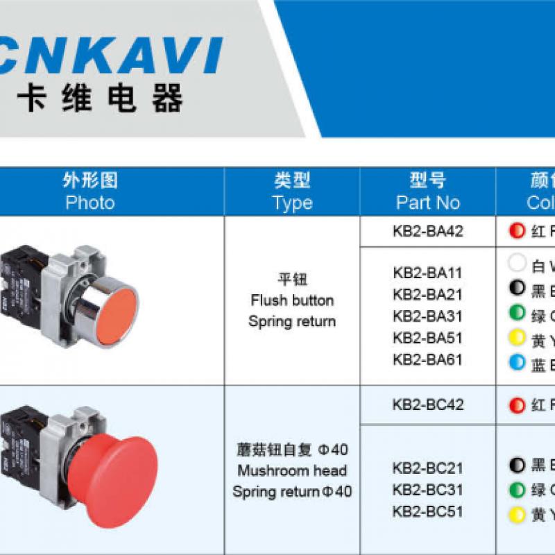 CNKAVI,KB2 push button